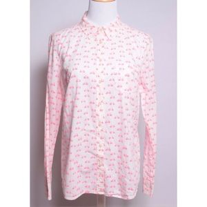 Merona Bicycle Print Button Down Long Sleeve Top